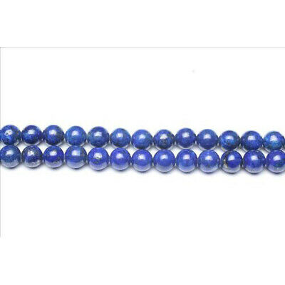 Strand Of 44+ Blue Lapis Lazuli 8mm Plain Round Beads GS0252-3