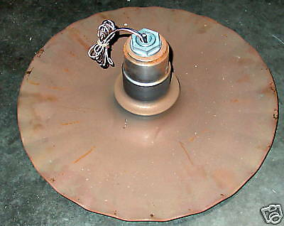 """Radial Wave 12"""" Industrial Lighting Fixture Rusty Unfinished with socket 120v"""