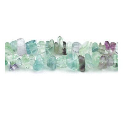 Long Strand 240+ Purple/Green Rainbow Fluorite 5-8mm Chip Beads GS3065