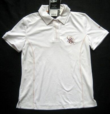 LIMITED SPORTS Damen Poloshirt in Weiß mit Motiv / Gr. 38 / NEU