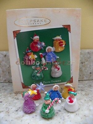 Hallmark 2002 Sugar Plum Fairies miniature Christmas Ornament set