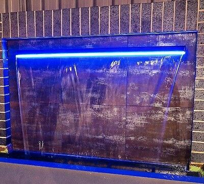 WATER FEATURE - STAINLESS 900mm PROJECTING 316 SPILLWAY option to add LED Lights