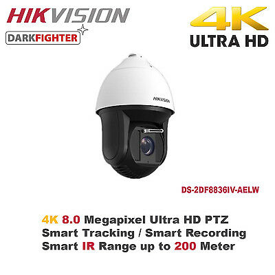 4K 8MP Ultra HD Hikvision 36X Outdoor Smart IR/Samrt Tracking IP PTZ Speed Dome