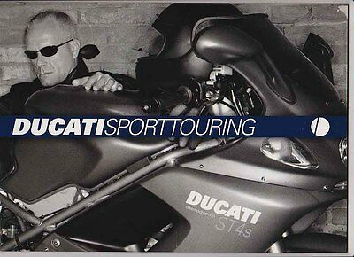 2003 DUCATI SPORT TOURING Italian Brochure in English ST2 ST4 ST4s ST4s ABS