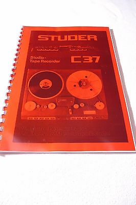 Service Instructions for Studer C37