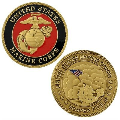 USMC Marine Corps Iwo Jima Memorial Challenge Coin Semper Fi WWII Military 3D