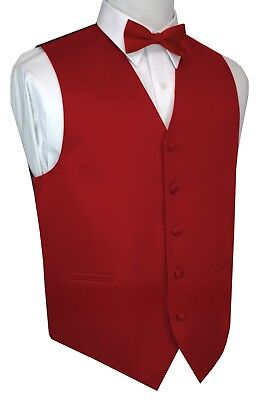 Boy's 2 - Men's 6XL. Scarlet Formal Dress Tuxedo Vest Set. Wedding, Prom