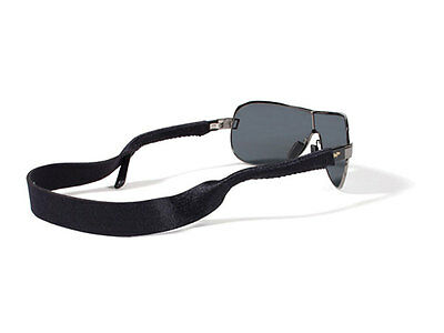 Croakies XL Solid Color Black Sunglasses Sport Retainer NEW FREE SHIPPING
