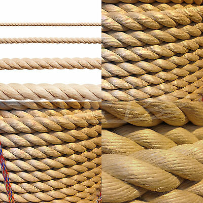8mm GARDEN DECKING ROPE, POLYHEMP, POLY HEMP, HEMPEX, SYNTHETIC BOATING MARINE
