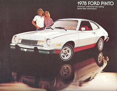 1978 Ford Pinto Brochure Sedan/Runabout/Wagons - Mint!