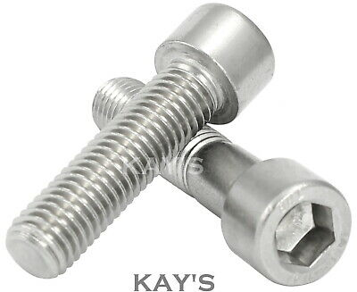 M3 (3mmØ) CAP SCREWS A2 STAINLESS STEEL HEX SOCKET ALLEN KEY BOLTS DIN 912