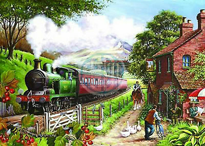 The House Of Puzzles - 500 PIECE JIGSAW PUZZLE - Country Crossing Unusual Pieces