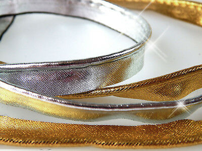 2 m Satin-Paspelband 1,35 €/m gold/ silber