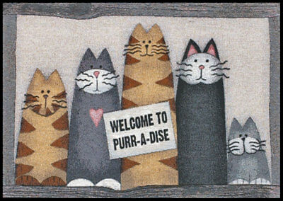 Welcome To Purr-A-Dise ~ Cats Tapestry Accent Rug