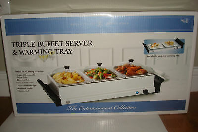 Bella Cucina All Occasion Triple Buffet Server & Warmer