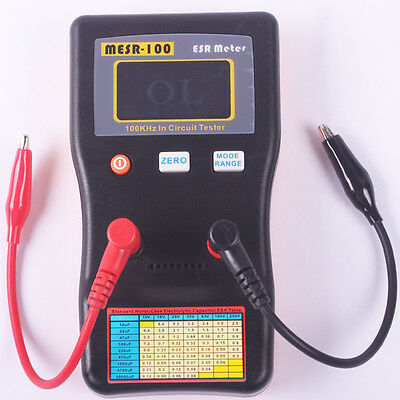 Auto Range In Circuit ESR Capacitor Meter Tester Up to 0.001 to 100R MESR100