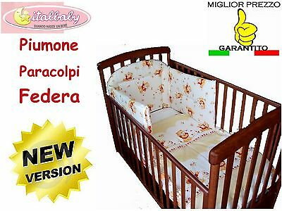 Italbaby Set Piumone Paracolpi Lettino Honey Orsetti