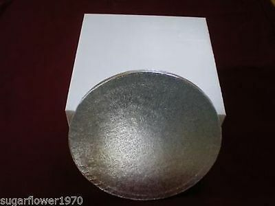 "12"" inch ROUND CAKE BOARD / DRUM & BOX Silver NEXT DAY DESPATCH"