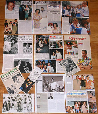 ARNOLD SCHWARZENEGGER spanish clippings 1980s/10s photos vintage magazine