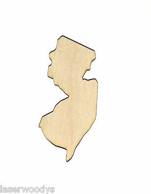 State of New Jersey Unfinished Wood Shape NJ8514 Crafts Lindahl Woodcrafts