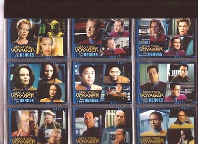 Star Trek Voyager Heroes and Villians Trading Card Set (w/Pages)  FREE S/H