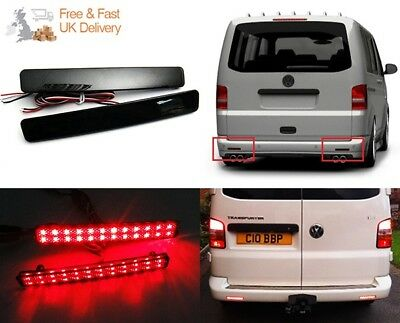 VW Transporter T5 03-10 Black Smoked Bumper Reflector LED Tail Brake Stop Light