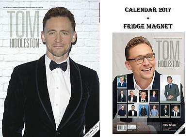 Tom Hiddleston Calendar 2017 + Tom Hiddleston Fridge Magnet