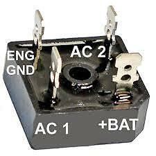 Outboard Rectifier 20 Amp Multi Fit Replaces Chrysler Force,suit Many Other Uses