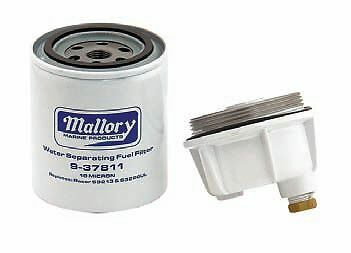 MARINE FUEL FILTER 10 MICRON Water Separator & Bowl Kit Fits Mercury,Yamaha Head