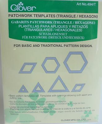 Clover Patchwork Templates (Triangle/hexagon) 494/t