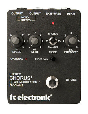 TC Electronic SCF Stereo Chorus Advanced Effect Pedal (NEW)