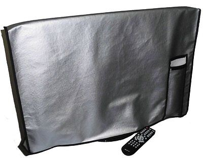 Large Flat Screen TV / LED / HDTV Vinyl Padded Dust Covers With Remote Pocket