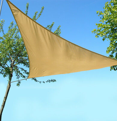 Triangle Sail Sun Shade Garden Patio Party Sunscreen Awning Canopy Cords Sunburn
