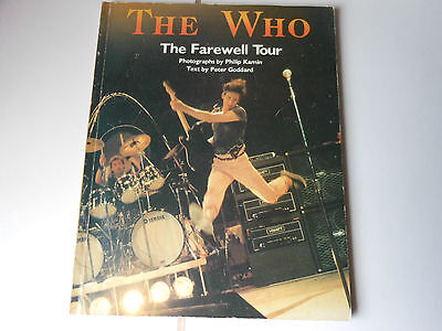 THE WHO the farewell tour Paper back book