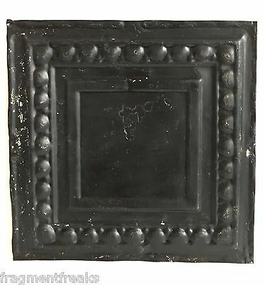 "12"" x 12"" Antique Tin Ceiling Tile Reclaimed C34a  Black *SEE SALVAGE VIDEOS*"