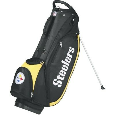 Wilson NFL Pittsburgh Steelers Golf Carry/Stand Bag, Black/Gold