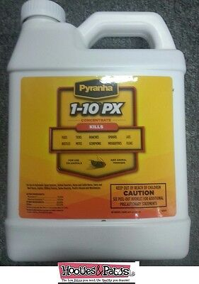 Pyranha 1-10Px Spray CONCENTRATE 1/2 Gallon kills Mosquitoes Ticks Fleas Dog