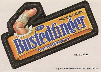 1979 Topps Wacky Packages Puzzle Back Busted Finger Candy #31