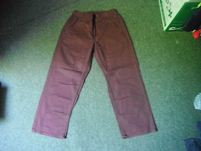 "Flip Back Loose Fit Jeans Waist 28"" Leg 25"" Faded Maroon Boys 10 Yrs Jeans"
