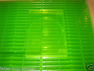 LOT OF 10 Replacement Game Cases, CLEAR GREEN NEW Retail Game Box XBOX 360