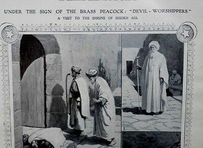 1911 Illustrated London News-Waterloo Cup,Yezidi Devil Worshippers Peacock Mosul