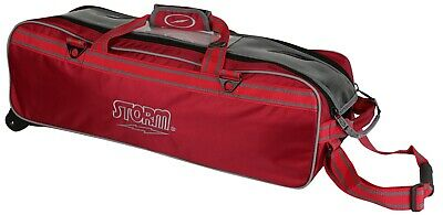 Storm Red Tournament 3 Ball Tote Bowling Bag