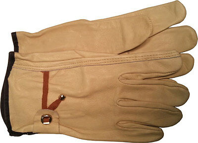 Cowhide Driver Gloves with BALL AND TAPE Pull Strap Sold by Pair