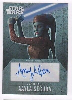 2016 Star Wars Evolution autograph card Amy Allen