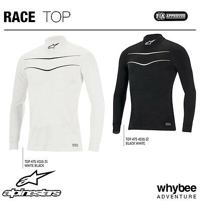 4754016 Alpinestars FIREPROOF RACE LONG SLEEVE TOP BASE LAYER FIA 8856-2000 SFI