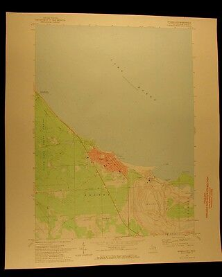 Rogers City Lake Huron vintage Michigan 1971 original USGS Topographical chart