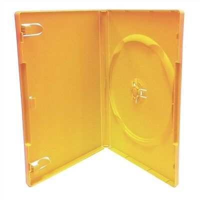 NEW LOT OF 5 ORANGE DVD DISC Replacement Cases SLIM 7mm CASE  FREE S/H
