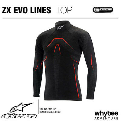4755116 Alpinestars ZX TOP EVO LINES LS Long Sleeve T-Shirt Black/Red RACE RALLY