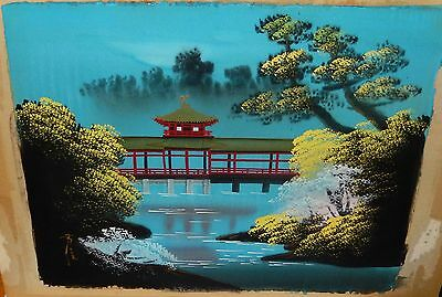 Heian Shrine Kyoto Japan Signed Watercolor On Silk Painting