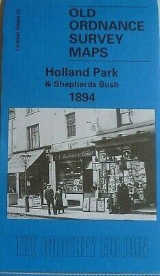 Old Ordnance Survey  Detailed Map Holland Park & Shepherds Bush London 1894 New